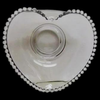Crystal Candlewick RARE Large Heart Shaped Bowl