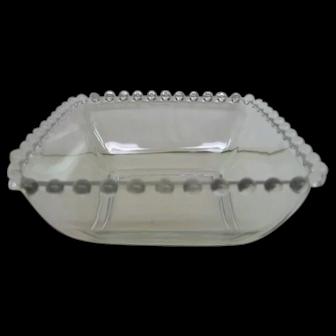 Crystal Candlewick Square Vintage Bowl