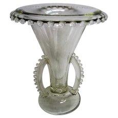 Crystal Candlewick Vintage Rolled Edge Vase
