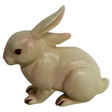 Lefton Porcelain White Rabbit Bunny Figurine
