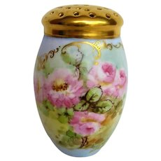 Hand Painted Rose Limoges Muffineer