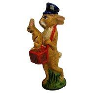 Vaillancourt Hand Painted Postman Bunny Figurine