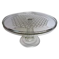 Early American Pattern Glass Footed Cake Stand