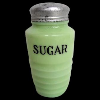 Jeannette Jadeite Glass Sugar Shaker Original Lid