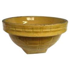 McCoy Yellow Window Pane Mixing Bowl