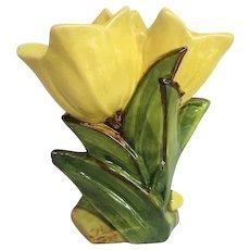 McCoy Yellow Double Tulip Vase