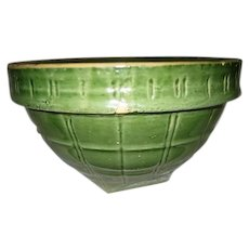 McCoy Vintage Window Pane Green Mixing Bowl