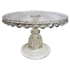 EAPG Early American Pattern Glass Pavonia Footed Cake Stand