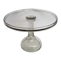 Crystal Clear EAPG Footed Cake Stand