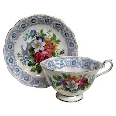 Royal Albert Floral Fragrance Design Cup and Saucer