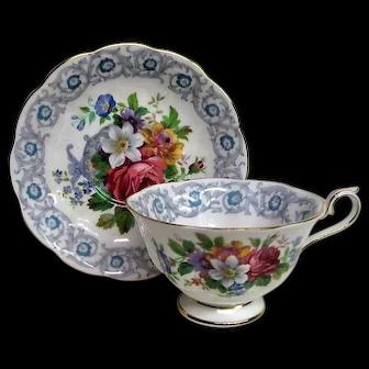 Royal Albert Floral Fragrance Design Cup and Saucer