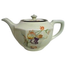 Hall Tulip Decorated Tea Pot