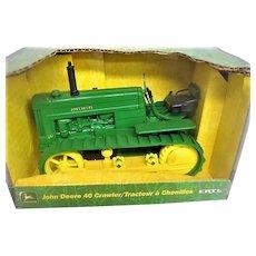 Green John Deere 40 Tractor Toy in Original Box