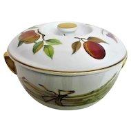 Evesham Fruit Decorated Round Covered Casserole