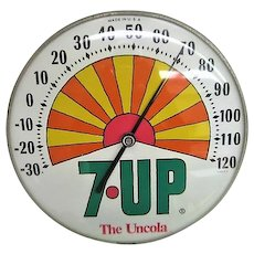 Vintage 7 Up  Un Cola Advertising Thermometer