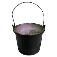 Cast Iron Small Vintage Bucket with Bail