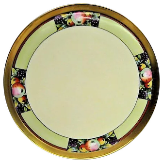 Hand Painted Limoges Stouffer Fruit Decorated Tray