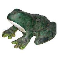 Cast Iron Green Frog Door Stop