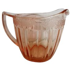 Pink Adam Depression Glass Creamer
