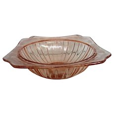 Pink Adam Depression Glass Large Bowl