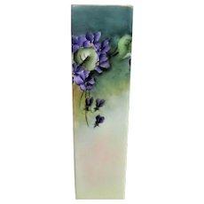 Hand Painted Porcelain Violet Square Vase