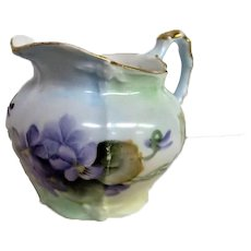 Lovely Limoges Hand Painted Violet Creamer