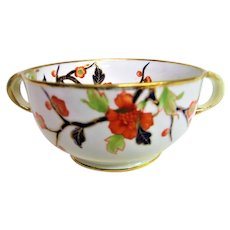Hand Painted Butterfly Noritake Two Handled Bowl