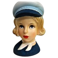 Wonderful Stewardess Flight Attendant Head Vase
