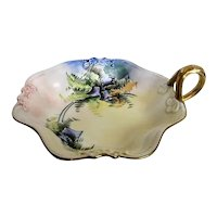 Hand Painted Limoges Stouffer Bluebell Candy Dish