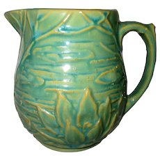 Stunning McCoy Green Water Lily Pitcher