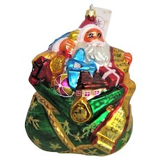Christopher Radko Santa Christmas Ornament