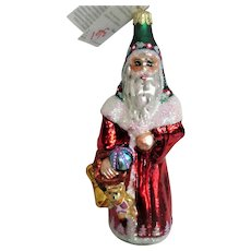 Christopher Radko  Glass Santa Christmas Ornament