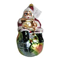 Christopher Radko Santa On top of the World Christmas Ornament