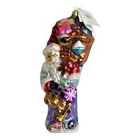 Christopher Radko Glass Santa and Toys Christmas Ornament
