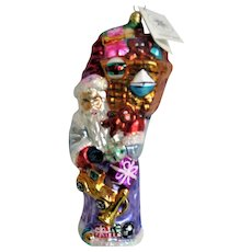 Christopher Radko Glass Santa and Toys Christmas Ornament