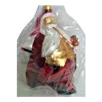 Christopher Radko Glass Santa Saks Fifth Avenue Christmas Ornament