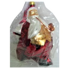 Christopher Radko Glass Santa Saks Fifth Avenue Christmas Ornament