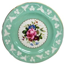 Hand Painted Floral Royal Crown Derby Artist Signed Plate
