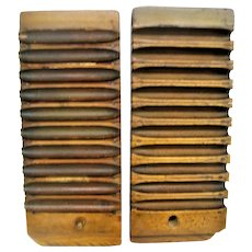 Antique Wooden Numbered Two Part Cigar Mold