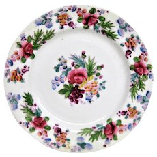 Hand Painted English Floral Plate