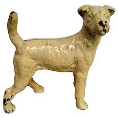 Cast iron Standing White Terrier Dog Door Stop
