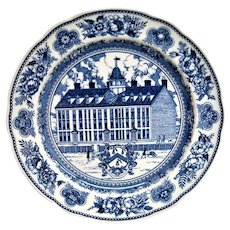 Wedgwood Blue and White Yale College Plate