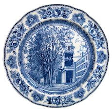 Wedgwood Blue and White Yale Old Chapel Plate