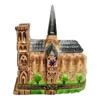 Hand Painted Limoges Notre Dame Cathedral Porcelain Trinket Box