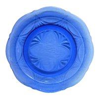 Cobalt Blue Royal Lace Depression Glass Dinner Plate