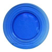 Cobalt Blue Moderntone Depression Glass Sandwich Plate