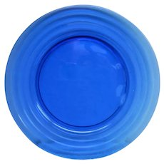 Cobalt Blue Moderntone Depression Glass Sandwich Plate