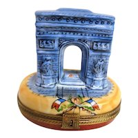Hand Painted Limoges Arc de Triomphe Trinket Box