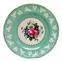 Hand Painted Royal Crown Derby Floral Plate