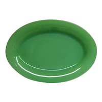 Oval Jadeite Green Fire King Restaurant Ware Platter